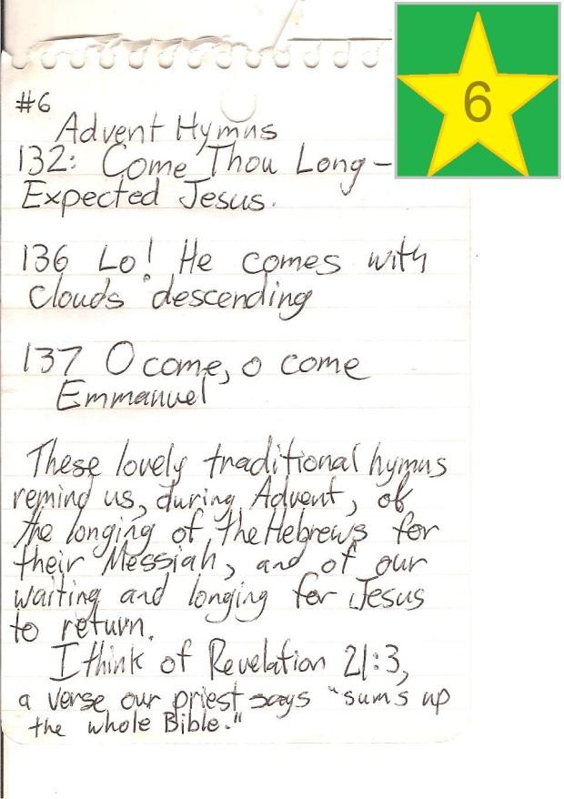 6 advent hymns